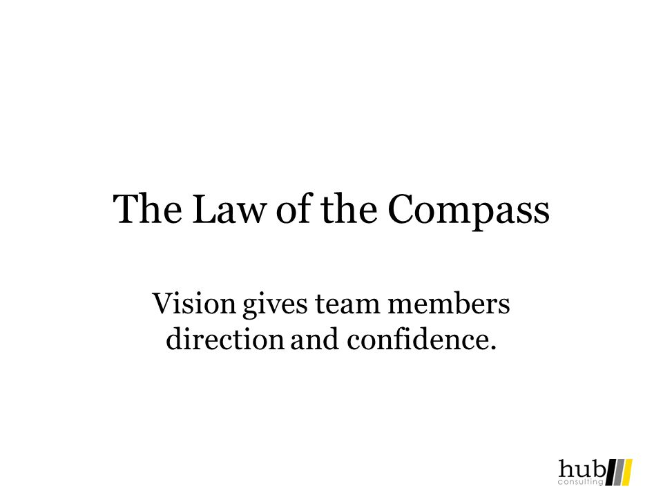 Vision gives team members direction and confidence.