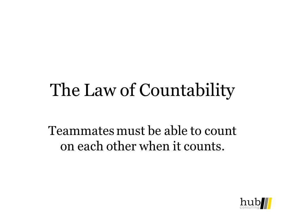 The Law of Countability