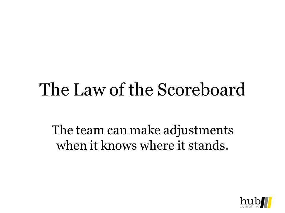 The Law of the Scoreboard