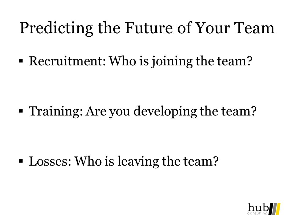 Predicting the Future of Your Team