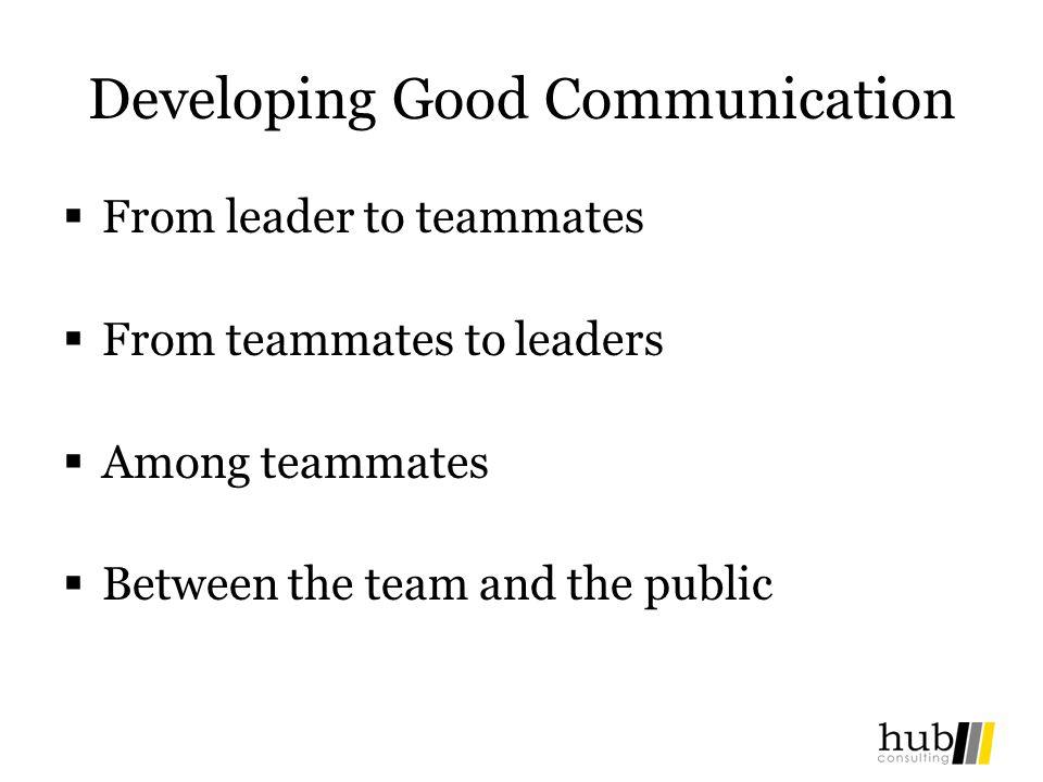 Developing Good Communication