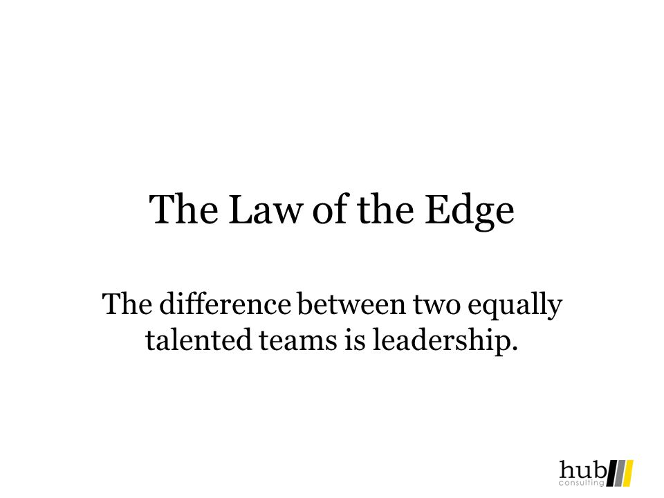 The difference between two equally talented teams is leadership.