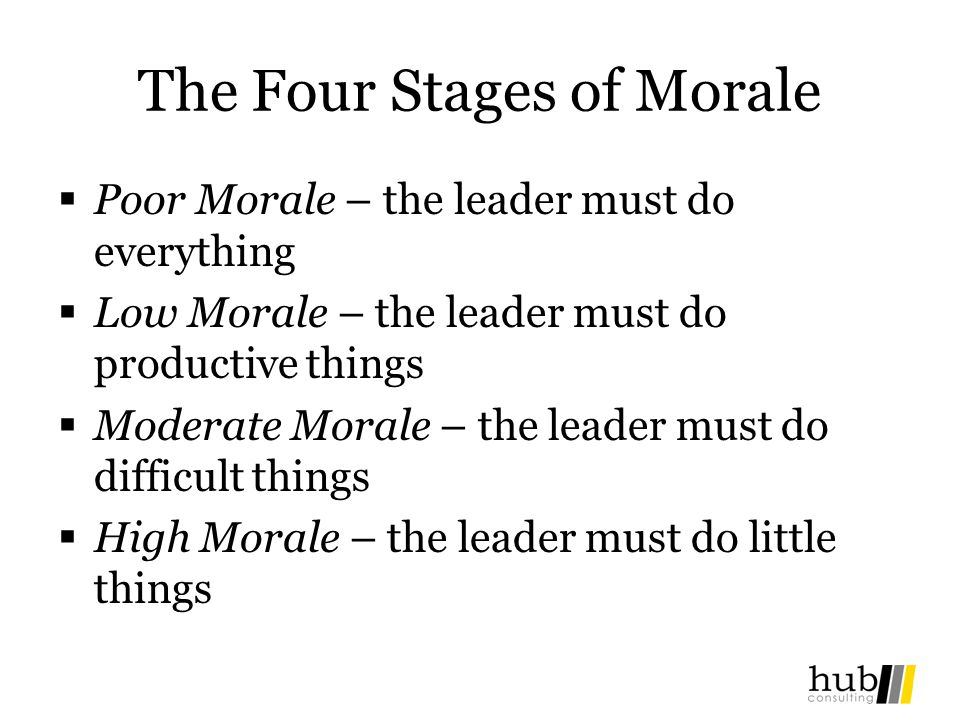 The Four Stages of Morale