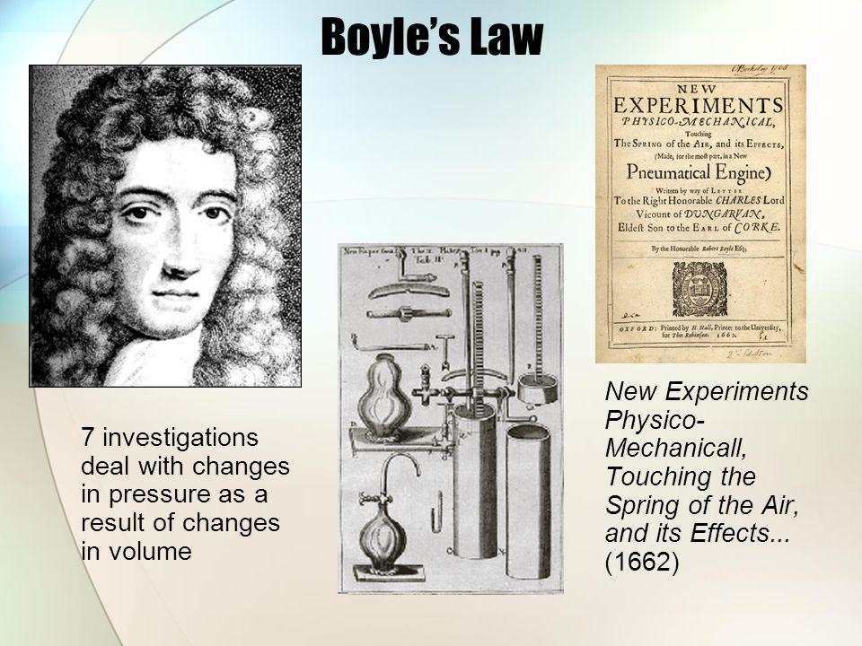 Boyle's Law New Experiments Physico-Mechanicall, Touching the Spring of the Air, and its Effects... (1662)