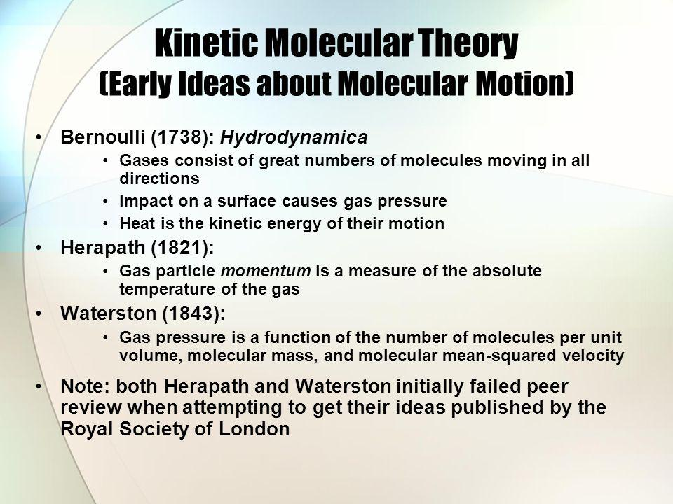 Kinetic Molecular Theory (Early Ideas about Molecular Motion)