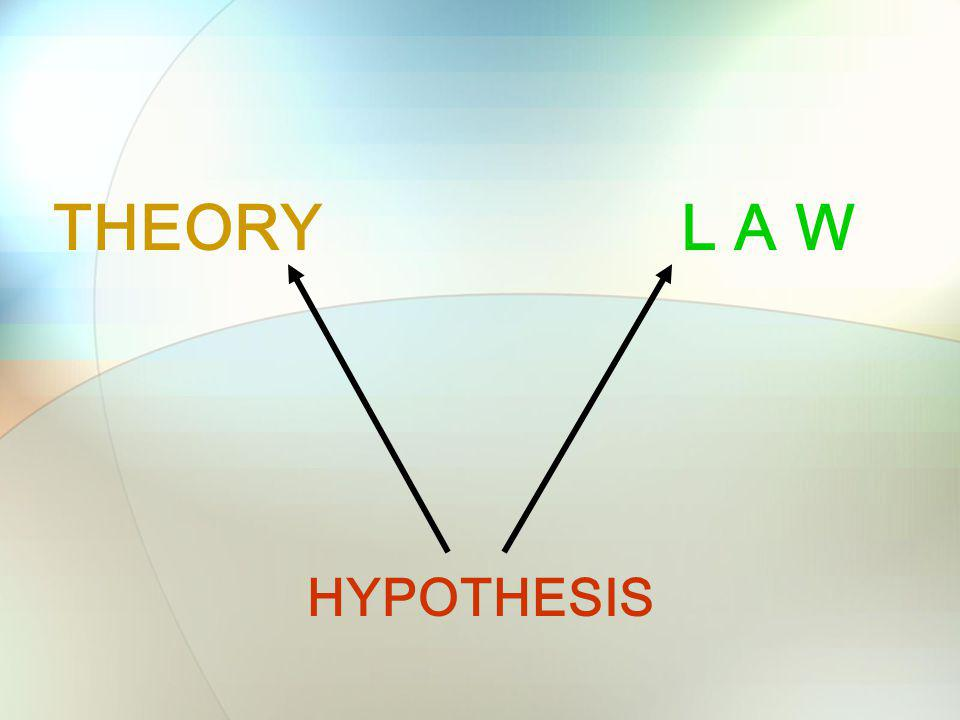 THEORY L A W HYPOTHESIS