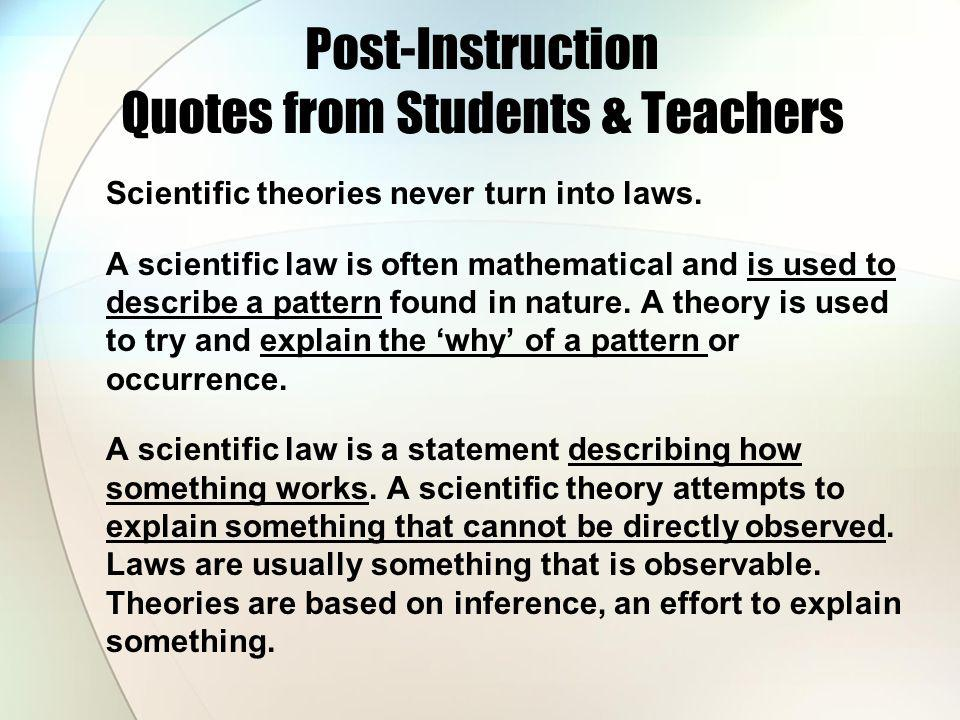Post-Instruction Quotes from Students & Teachers