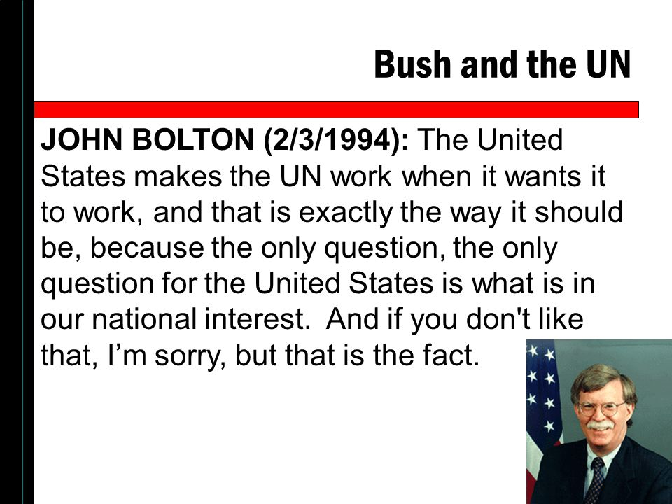 Bush and the UN