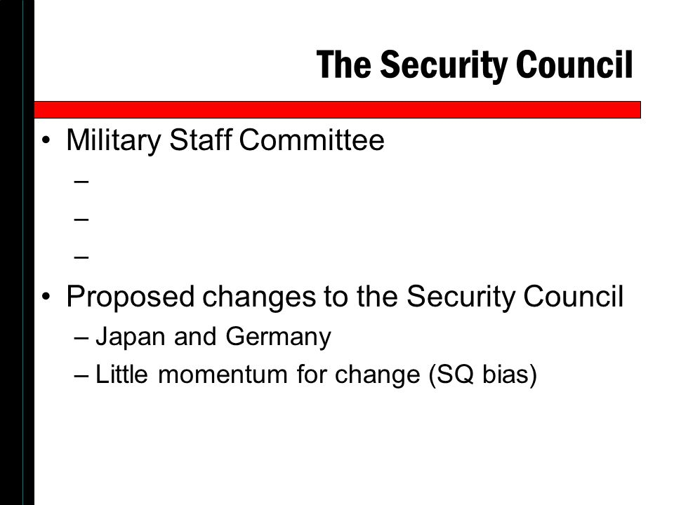 The Security Council Military Staff Committee