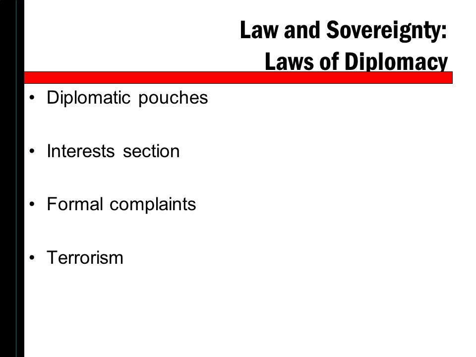 Law and Sovereignty: Laws of Diplomacy