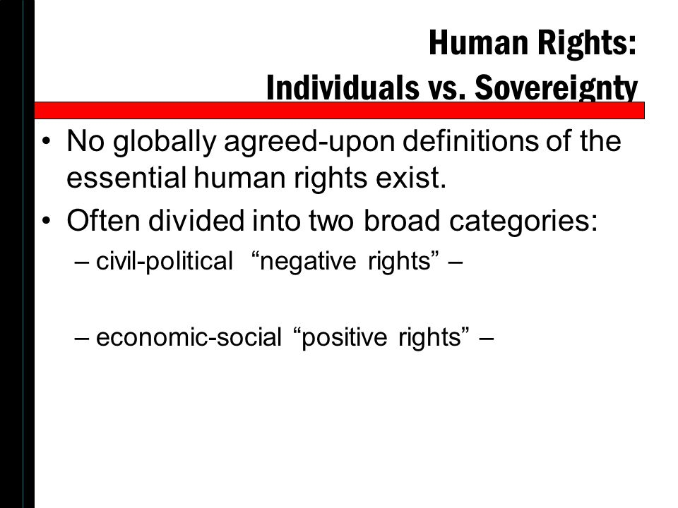 Human Rights: Individuals vs. Sovereignty