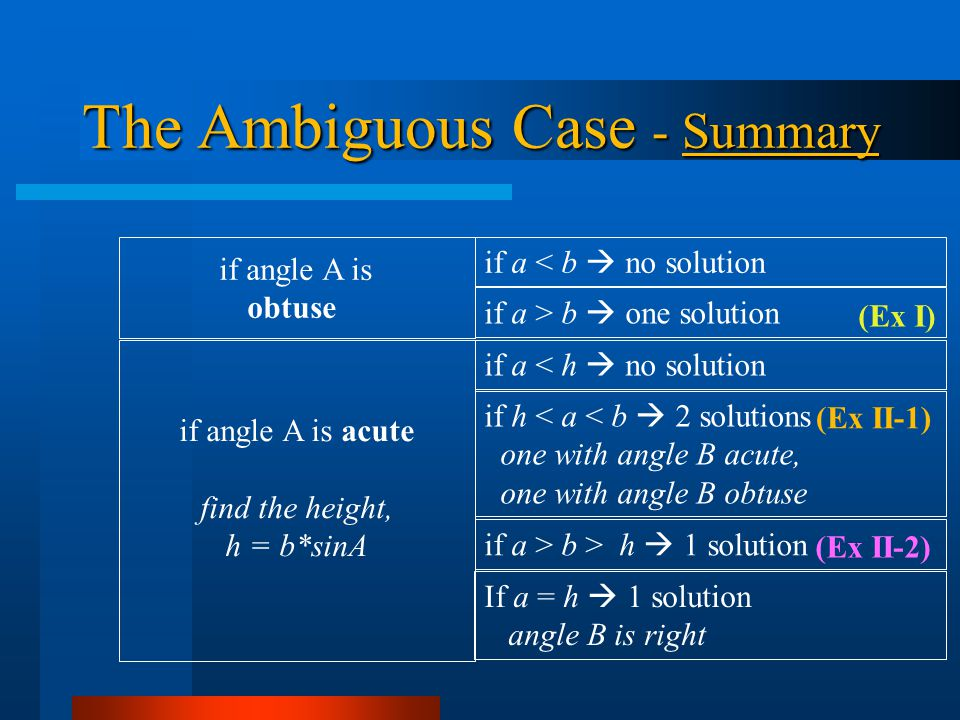 The Ambiguous Case - Summary