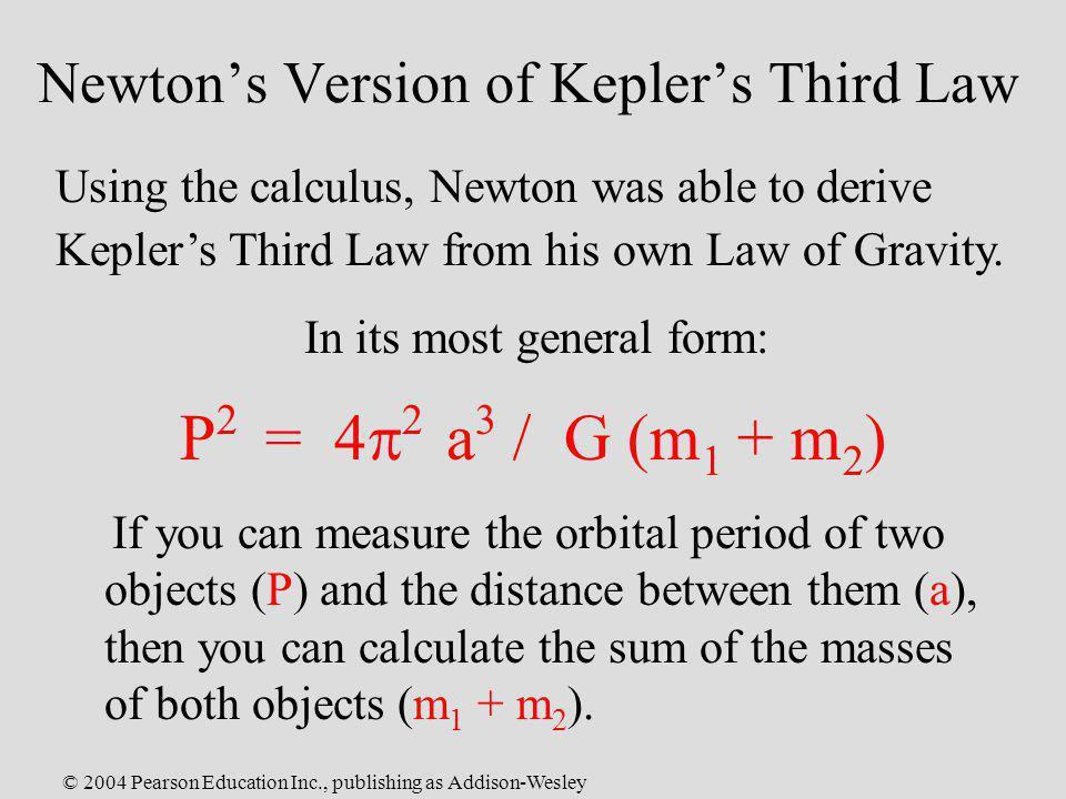 Newton's Version of Kepler's Third Law