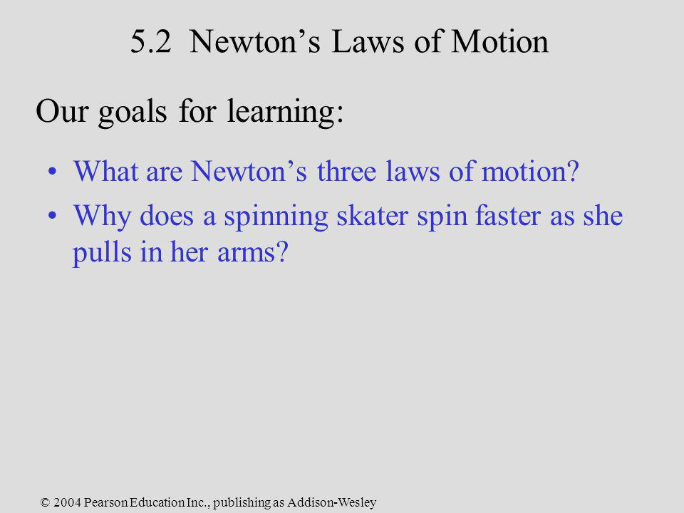 5.2 Newton's Laws of Motion