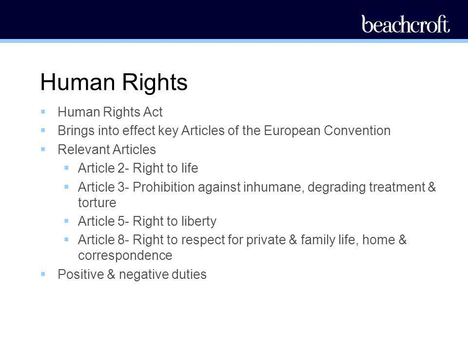 The Human Rights Act | http://collieston.blogspot.co.uk/My Blog