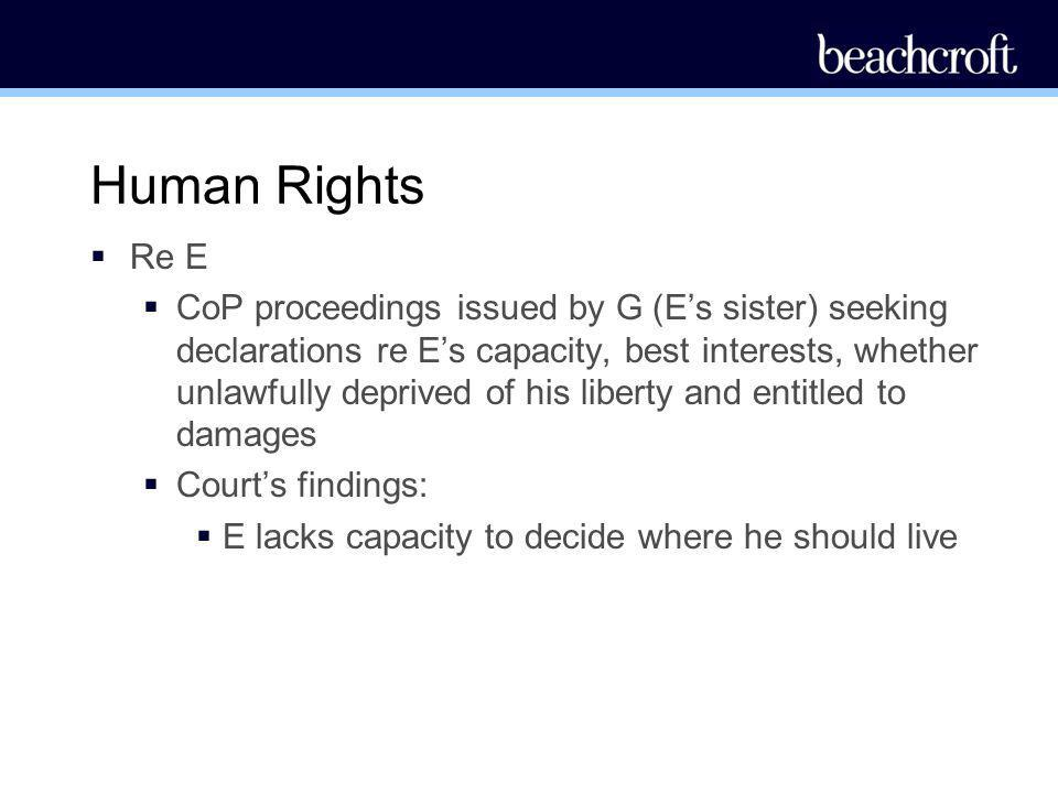 Human Rights Re E.