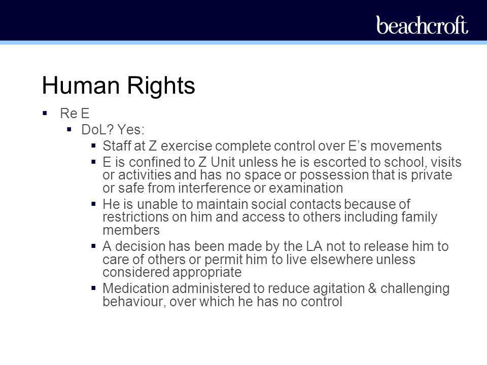 Human Rights Re E DoL Yes: