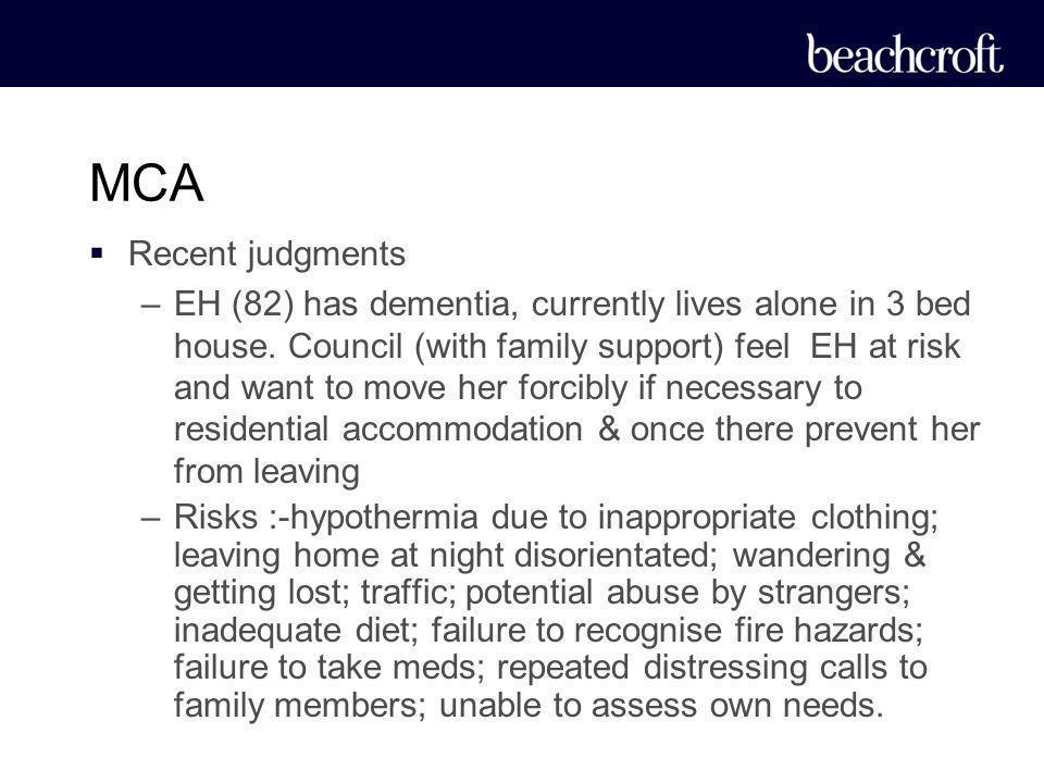 MCA Recent judgments.