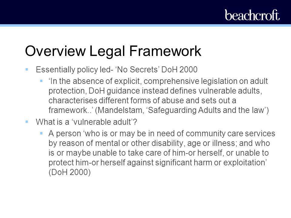 Overview Legal Framework