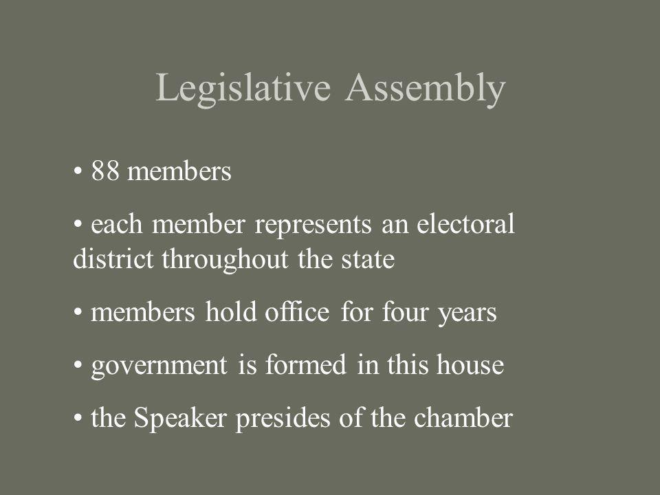 Legislative Assembly 88 members