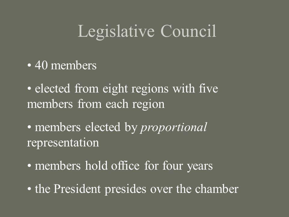 Legislative Council 40 members