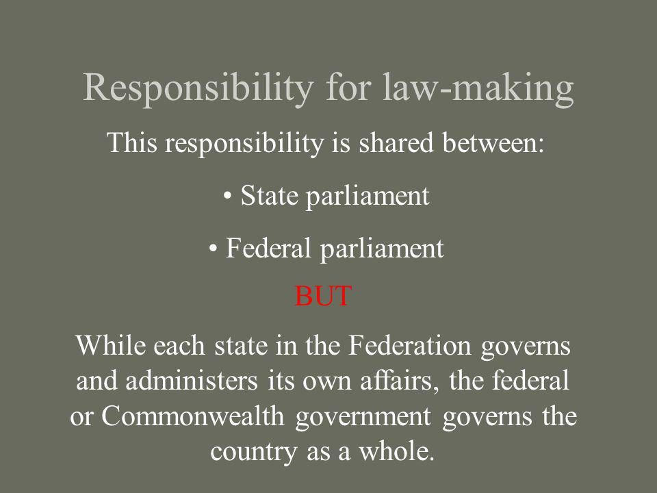 Responsibility for law-making