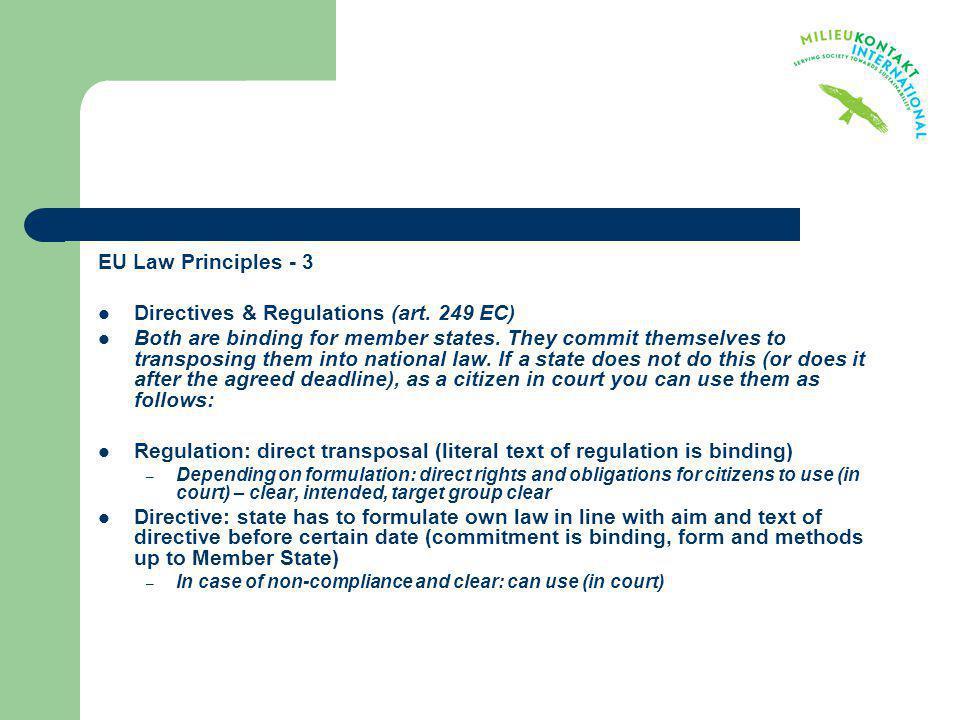 Directives & Regulations (art. 249 EC)
