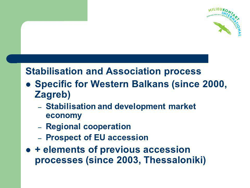 Stabilisation and Association process