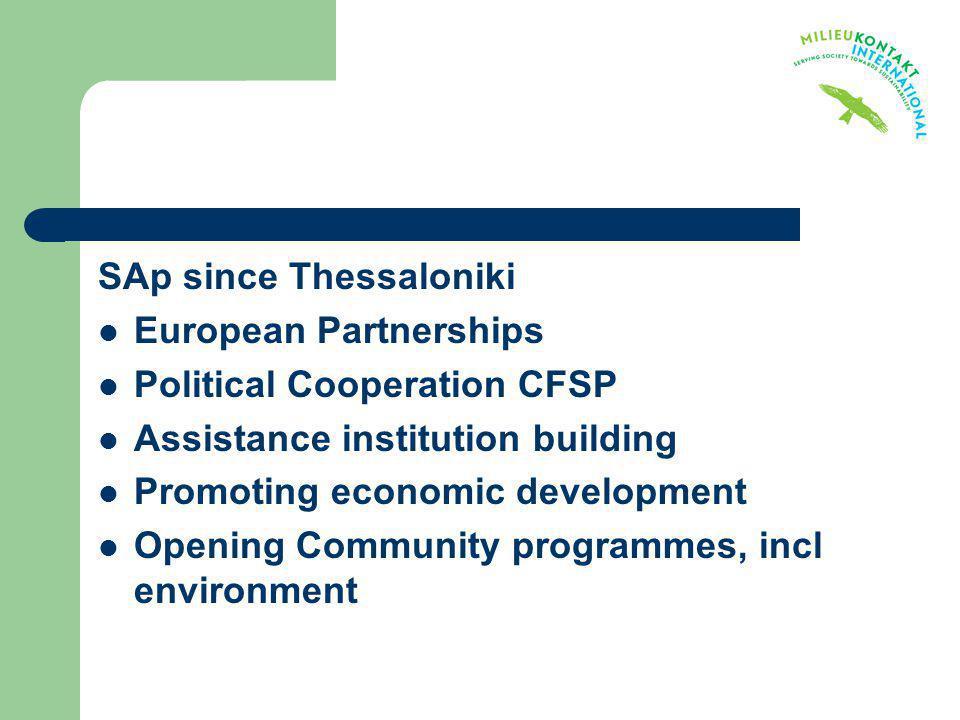 SAp since Thessaloniki