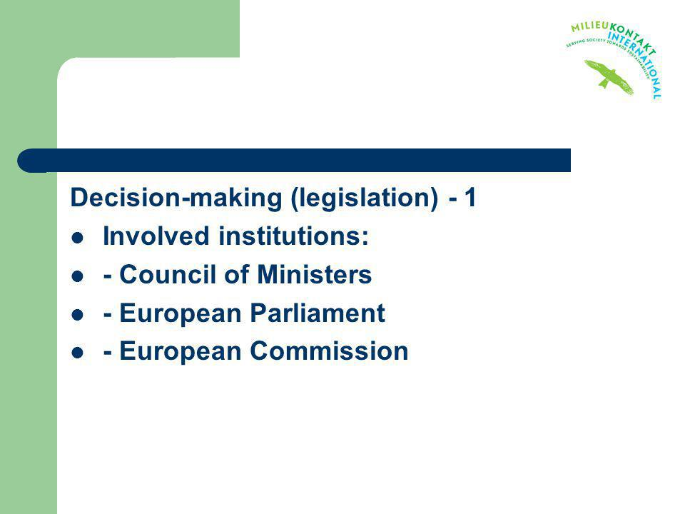 Decision-making (legislation) - 1