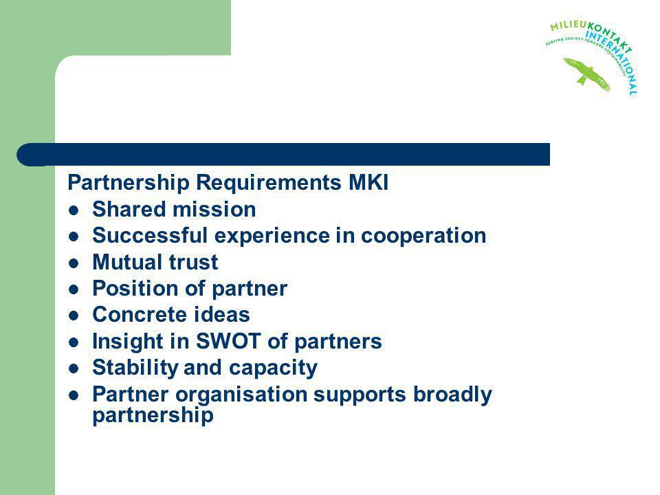 Partnership Requirements MKI