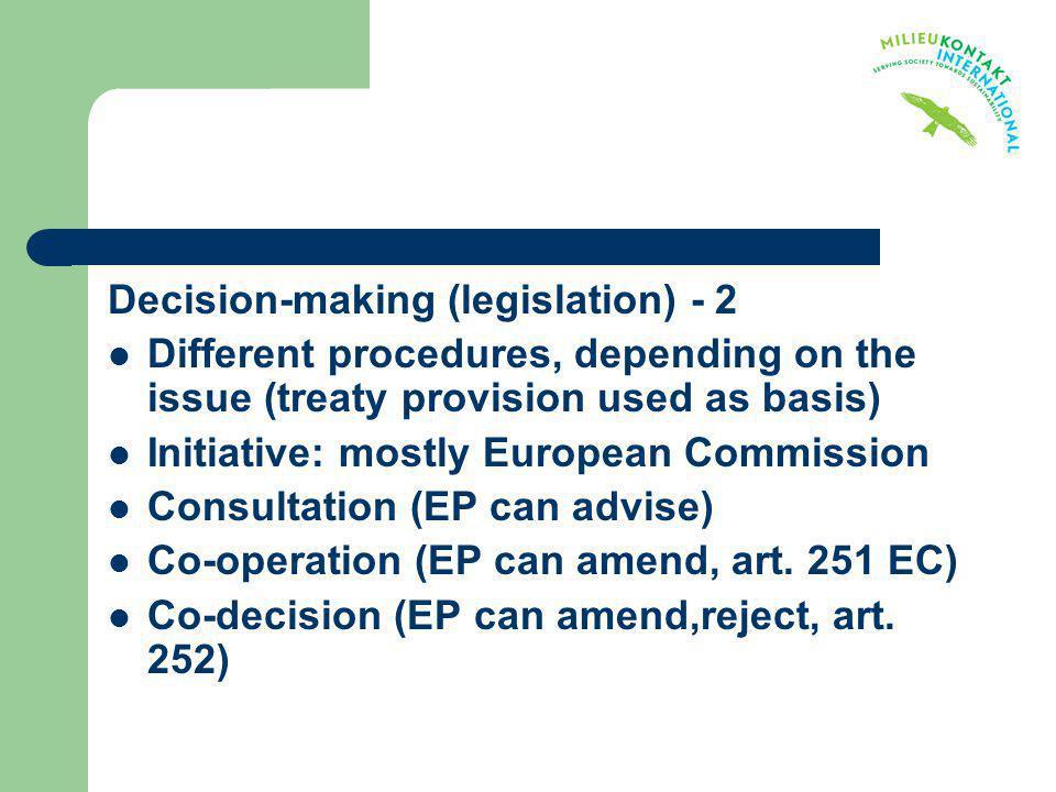 Decision-making (legislation) - 2