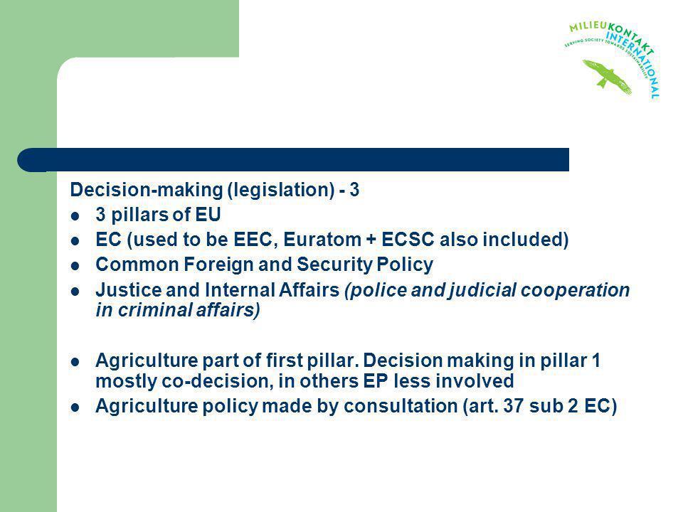 Decision-making (legislation) - 3