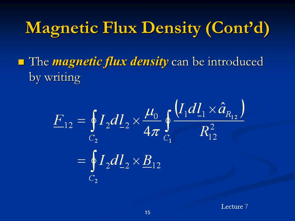 Magnetic Flux Density (Cont'd)