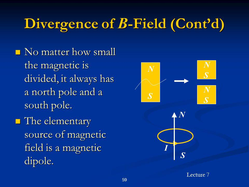Divergence of B-Field (Cont'd)
