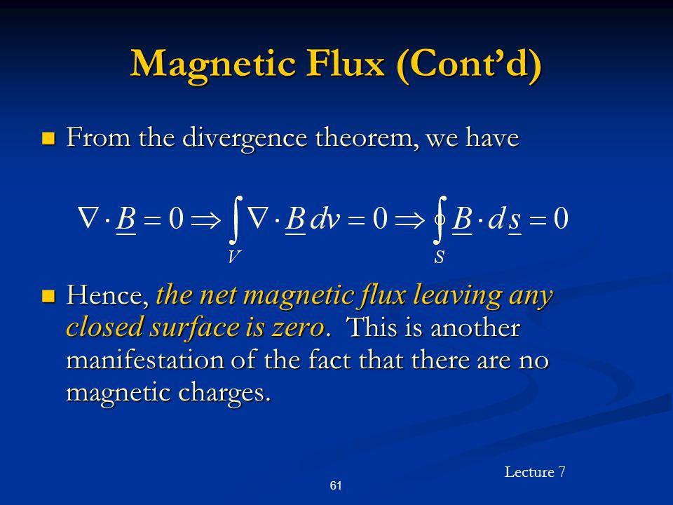 Magnetic Flux (Cont'd)