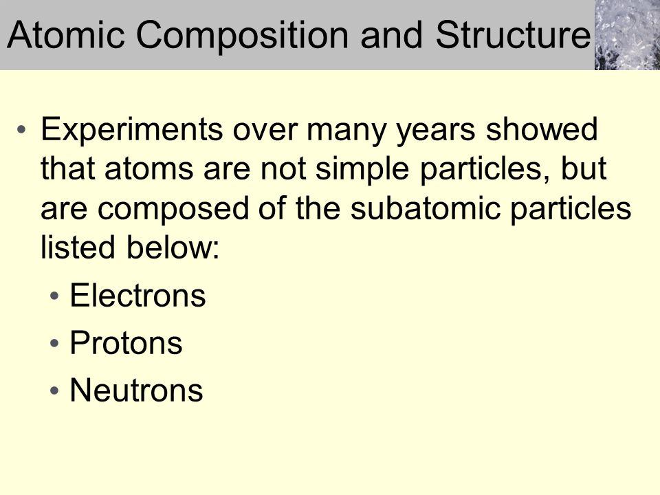 Atomic Composition and Structure