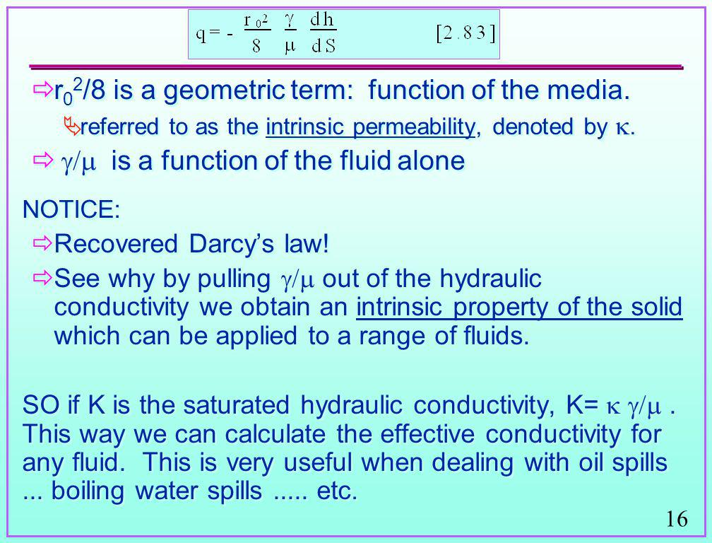r02/8 is a geometric term: function of the media.