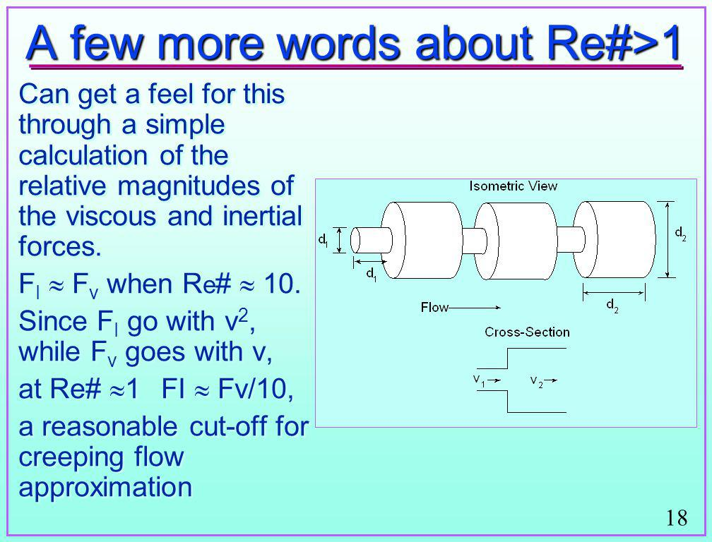 A few more words about Re#>1