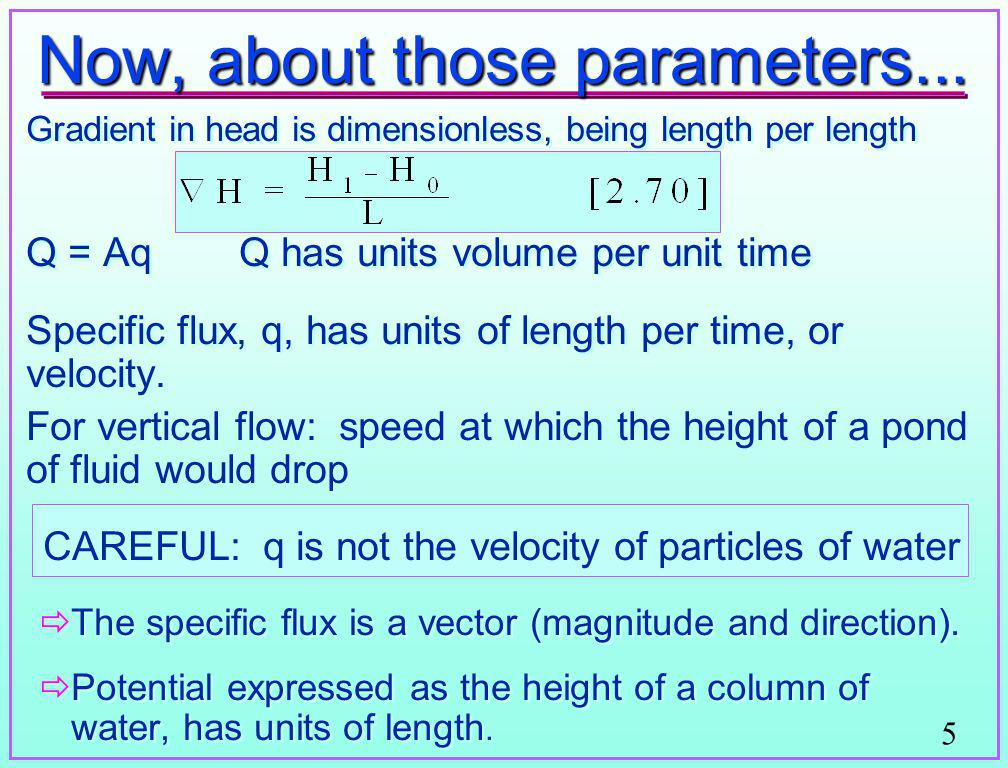Now, about those parameters...