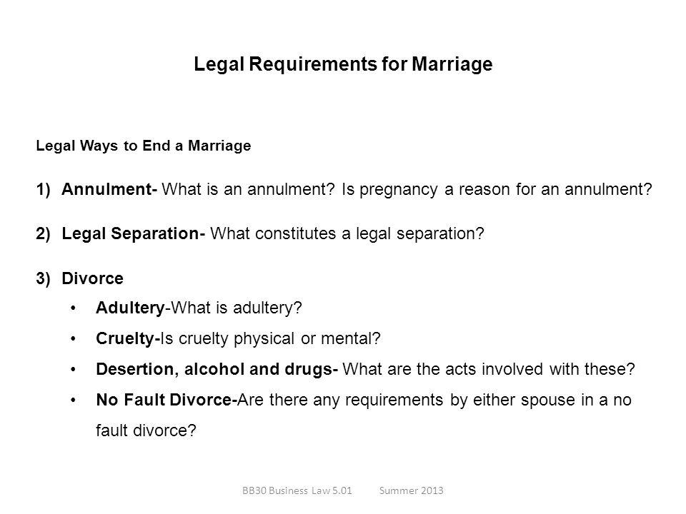 Legal Requirements for Marriage