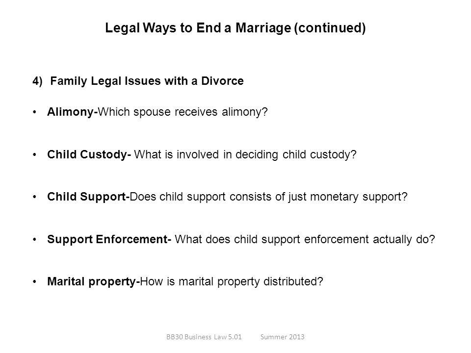 Legal Ways to End a Marriage (continued)