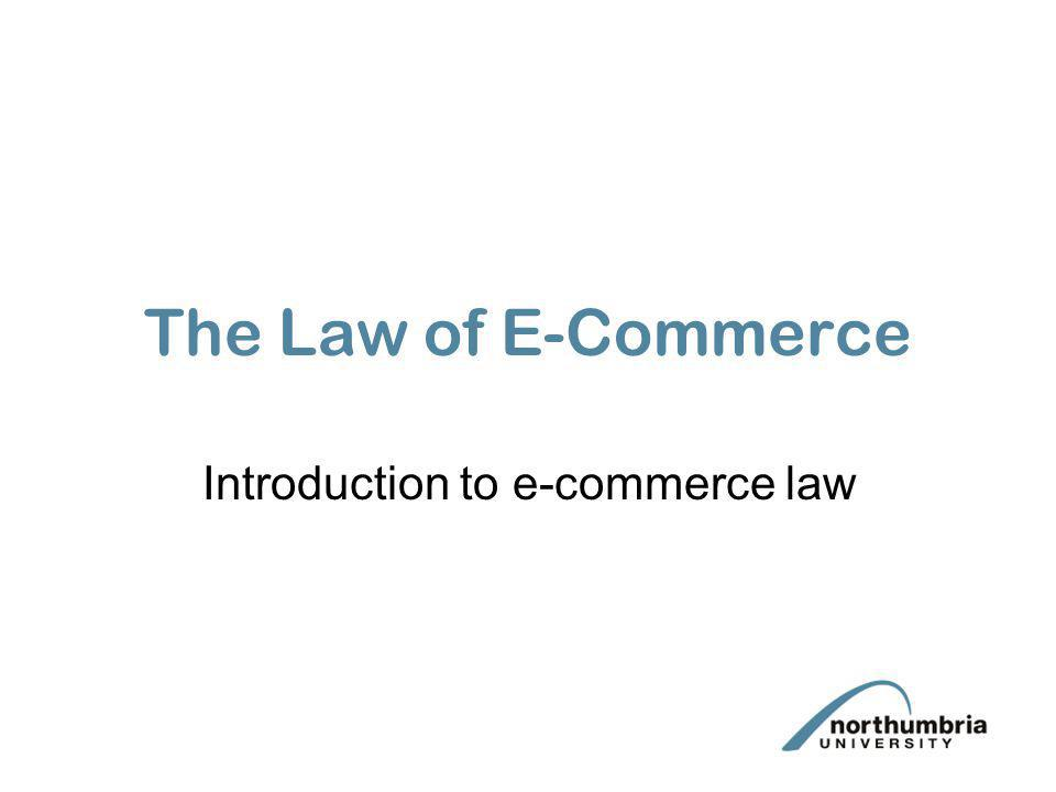Introduction to e-commerce law