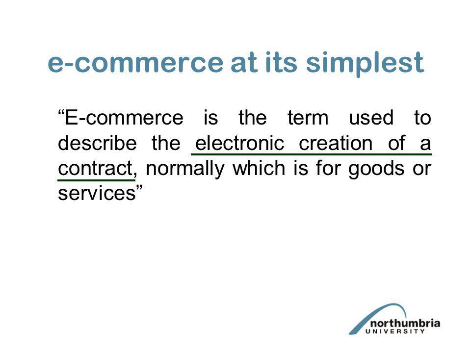 e-commerce at its simplest