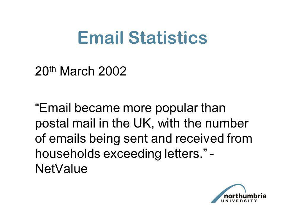 Email Statistics 20th March 2002