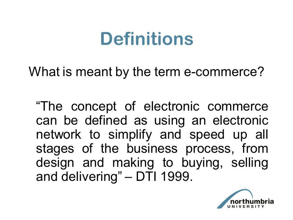 What is meant by the term e-commerce
