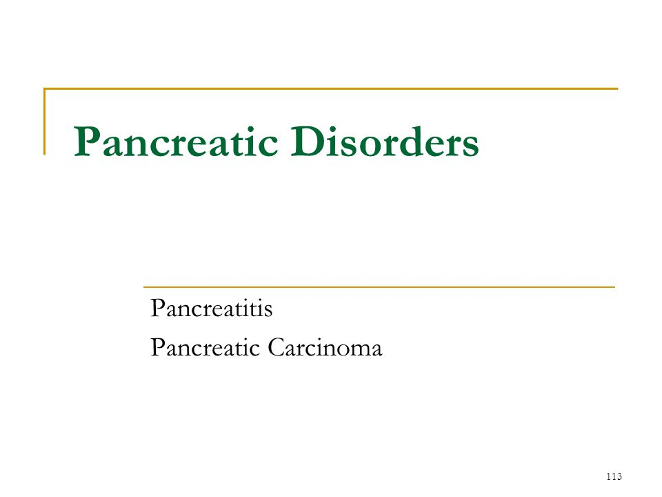 Pancreatitis Pancreatic Carcinoma