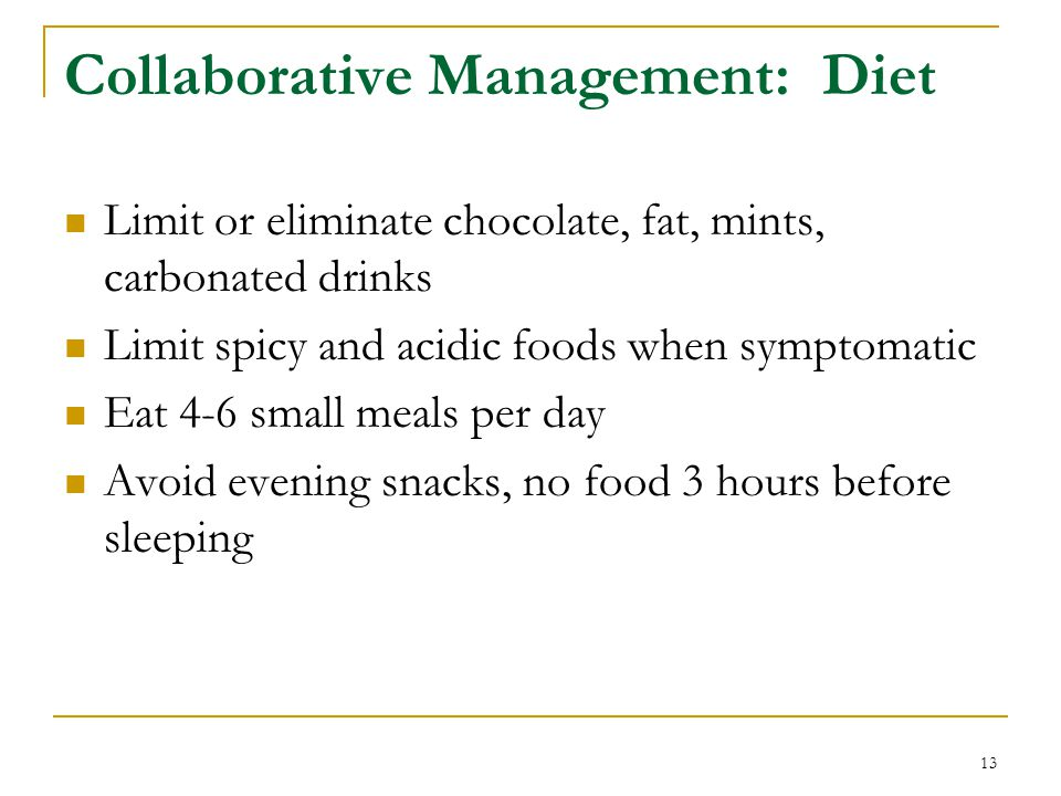 Collaborative Management: Diet