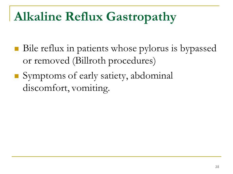 Alkaline Reflux Gastropathy