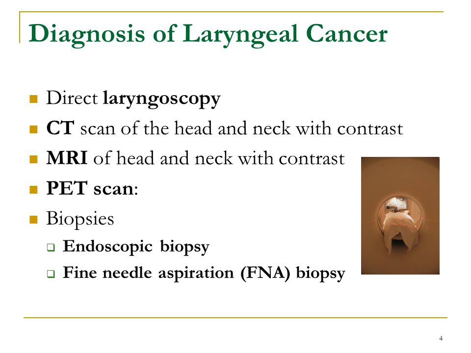 Diagnosis of Laryngeal Cancer
